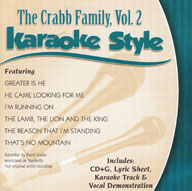 Karaoke Style: Crabb Family, Vol. 2