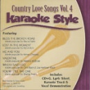 Karaoke Style: Country Love Songs, Vol. 4