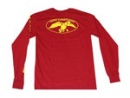 Duck Commander Long Sleeve Shirt: Red/Yellow | Large